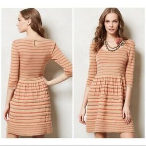 {Anthro} Knitted & Knotted Elodie Sweater Dress M